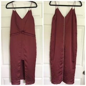 ASOS Red-Burgundy Strap Dress Size 4